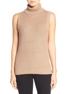 MICHAEL Michael Kors Shaker Knit Sleeveless Turtleneck Sweater
