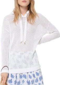 MICHAEL Michael Kors Sheer Openwork Cotton Hoodie