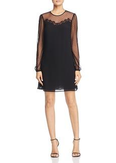 Michael Michael Kors Sheer-Sleeve Dress