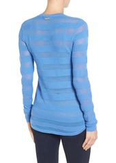 MICHAEL Michael Kors Sheer Stripe Top