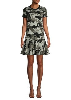 MICHAEL Michael Kors Shimmer Camo-Knit Dress