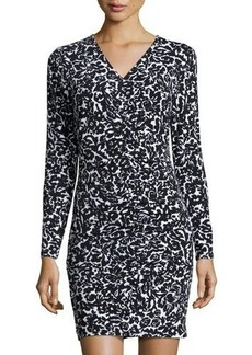 MICHAEL Michael Kors Shirred-Front Floral-Print Dress