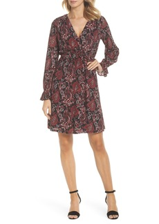 MICHAEL Michael Kors Shirred Ruffle Sleeve Dress
