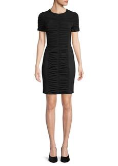 MICHAEL Michael Kors Shirred Short-Sleeve Dress
