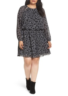 MICHAEL Michael Kors Shooting Star Blouson Dress (Plus Size)