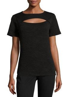 MICHAEL Michael Kors Short-Sleeve Cutout Top