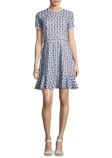 MICHAEL Michael Kors Short-Sleeve Floral Eyelet Dress