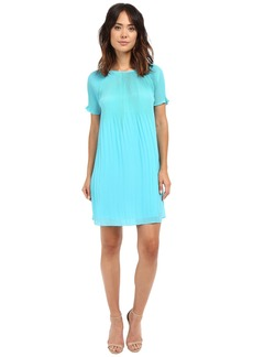 MICHAEL Michael Kors Short Sleeve Pleat Dress