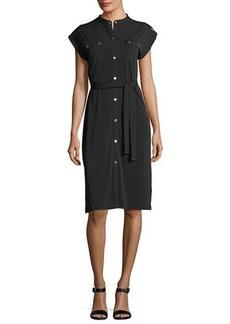MICHAEL Michael Kors Short-Sleeve Snap-Front Shirtdress