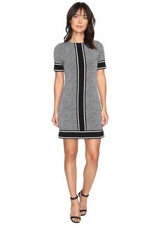 MICHAEL Michael Kors Short Sleeve Stingray Border Dress