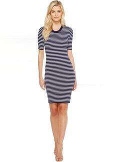 Short Sleeve Striped Tee Dress