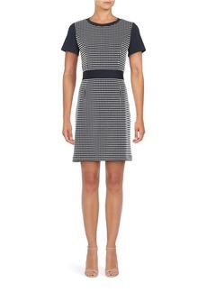 MICHAEL MICHAEL KORS Short Sleeve Textured Knit Sheath Dress