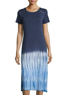 MICHAEL Michael Kors Short-Sleeve Tie-Dye Maxi Dress
