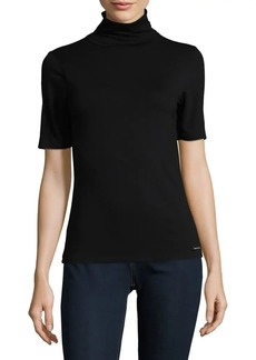 MICHAEL Michael Kors Short-Sleeve Turtleneck