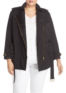 MICHAEL Michael Kors Short Zip Trench Coat (Plus Size)