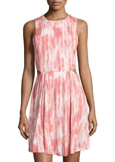 MICHAEL Michael Kors Side-Cutout Tie-Dye Dress