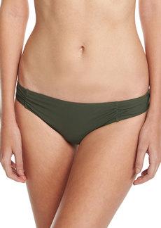 Side-Shirred Bikini Bottom