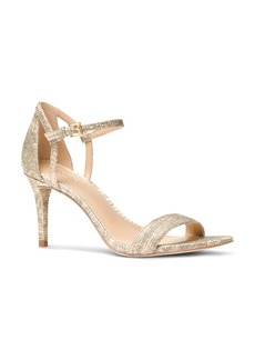 MICHAEL Michael Kors Simone Embossed Leather Mid Heel Sandals