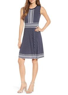 MICHAEL Michael Kors Simple Dot Border Dress
