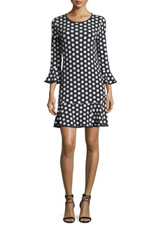 MICHAEL Michael Kors Simple Dot Flounce Shift Dress