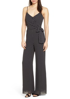 MICHAEL Michael Kors Simple Dot Side Tie Jumpsuit