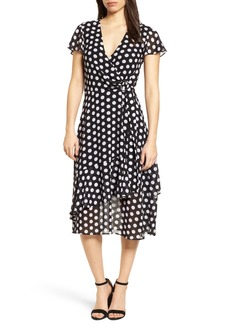 MICHAEL Michael Kors Simple Dot Wrap Dress
