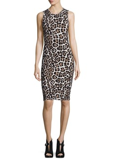 MICHAEL Michael Kors Sleeveless Animal-Print Sheath Dress