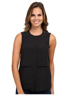 MICHAEL Michael Kors Sleeveless Button Down Top