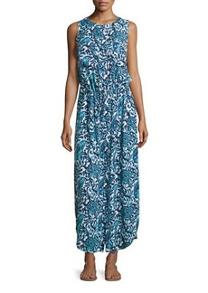MICHAEL Michael Kors Sleeveless Button-Front Maxi Dress