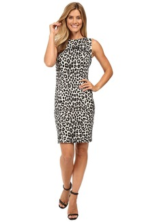 MICHAEL Michael Kors Sleeveless Cheetah Yoke Dress