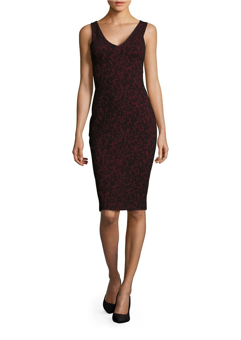 MICHAEL MICHAEL KORS Sleeveless Jacquard Bodycon Dress