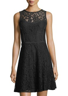 MICHAEL Michael Kors Sleeveless Lace A-Line Dress