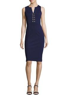MICHAEL Michael Kors Sleeveless Lace-Up Power Dress