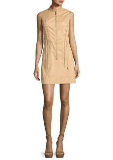 MICHAEL Michael Kors Sleeveless Lace-Up Zip-Front Dress