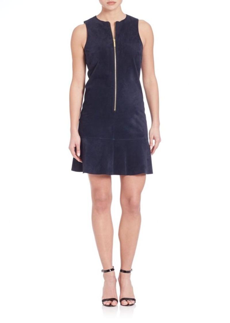MICHAEL MICHAEL KORS Sleeveless Leather Shift Dress