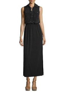 MICHAEL Michael Kors Sleeveless Maxi Lace-Up Dress