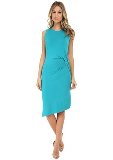MICHAEL Michael Kors Sleeveless Open Crew Neck Drape Dress