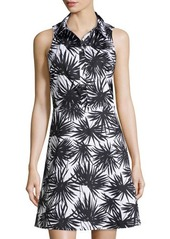 MICHAEL Michael Kors Sleeveless Palm-Print Shirt Dress