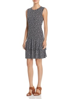 MICHAEL Michael Kors Sleeveless Printed Tiered-Hem Dress