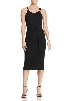 MICHAEL Michael Kors Sleeveless Ribbed Ring-Strap Dress