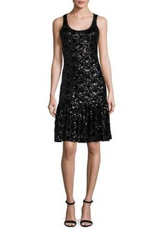 MICHAEL Michael Kors Sleeveless Sequined Lace Mesh Dress