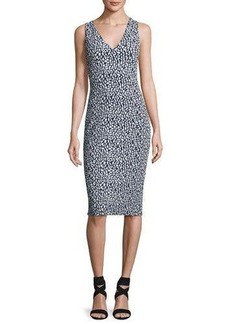 MICHAEL Michael Kors Sleeveless Sporty Jacquard Sheath Dress