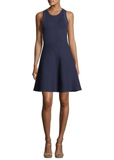 MICHAEL Michael Kors Sleeveless Studded Fit-&-Flare Dress