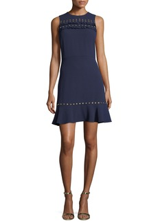 MICHAEL Michael Kors Sleeveless Studded Flounce Dress
