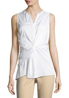 MICHAEL Michael Kors Sleeveless Twist-Front Blouse