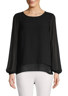 MICHAEL Michael Kors Slit Back Top