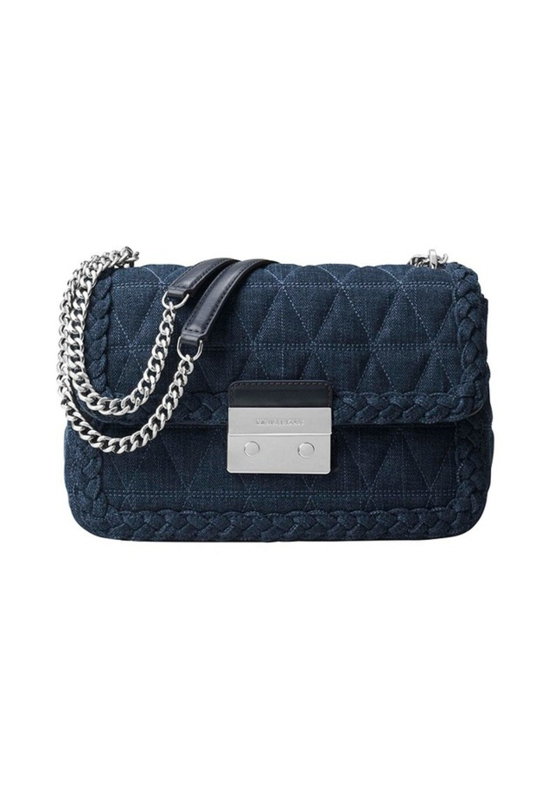 0f2907fe8c0c MICHAEL Michael Kors MICHAEL Michael Kors® Sloan Large Quilted-Denim ...