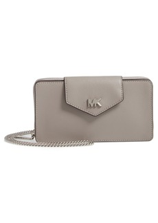 MICHAEL Michael Kors Small Convertible Leather Wallet on a Chain