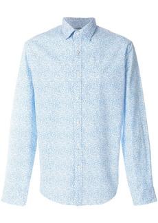Michael Michael Kors small floral-print shirt - Blue
