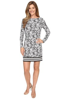 MICHAEL Michael Kors Small Pompano Long Sleeve Border Dress